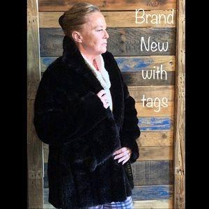 Ralph Lauren women coat, faux fur, brand new